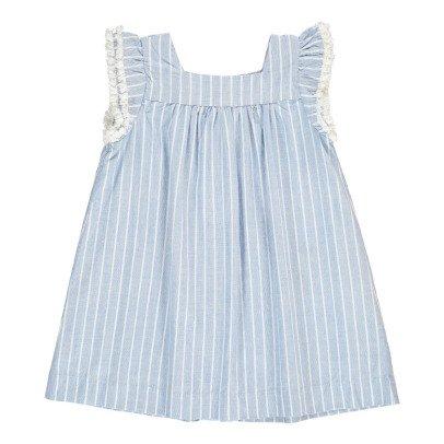 Simple Kids Vestido Rayas Volantes Surat-listing