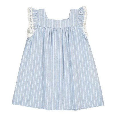 Simple Kids Vestito Righe Volant-listing