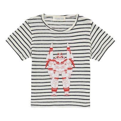 Simple Kids Camiseta Rayas Robot-listing