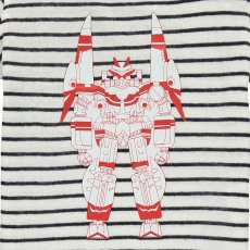 Simple Kids Robot Striped T-Shirt-listing