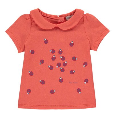 Paul Smith Junior Numa Ladybird T-Shirt with Peter Pan Collar-listing