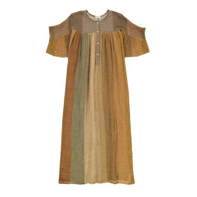 Masscob Linen Striped Maxi Dress-listing