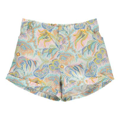 Lab - La Petite Collection Cashmere Printed Liberty Shorts-listing