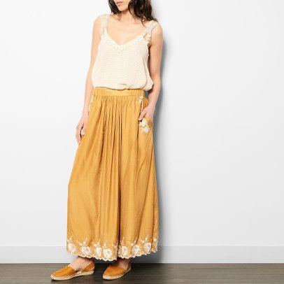 Louise Misha Andalousia Embroidered Maxi Skirt - Women's Collection-listing