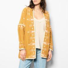 Louise Misha Jade Embroidered Linen and Cotton Jacket - Women's Collection-product