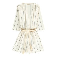 product-Sessun Taza Striped Linen and Cotton Playsuit