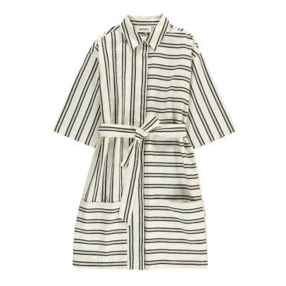 ANECDOTE Dyanne Striped Shirt Dress with Belt-listing