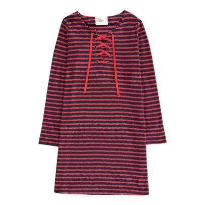 Leon & Harper Raelyn Lace Up Striped Dress-listing
