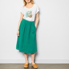 Des petits hauts Touca Crepe Button-Up Maxi Skirt-listing