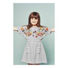 Milk on the Rocks Domo Embroidered Stripe Dress-listing
