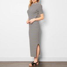 ANECDOTE Desi Stripe Ribbed Maxi Dress-listing