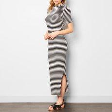 ANECDOTE Desi Stripe Ribbed Maxi Dress-listing