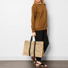 Soeur Suitcase Striped Raffia Bag-product