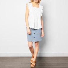 Soeur Vintage Stripe Button-Up Skirt-listing
