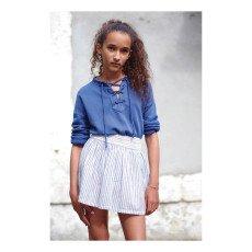 Swildens Teen Qechan Striped Smock Skirt-listing