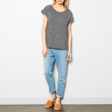 Des petits hauts Jasale Strped Button-Up Cotton and Linen T-Shirt-product