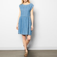 Des petits hauts Léontine Button-Up Cotton and Linen Dress-listing