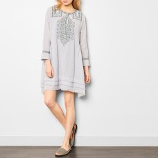 Soeur Vasa Fringe Embroidered Check Dress-listing