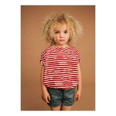 Kidscase Wave Organic Cotton Striped Loose T-Shirt-product