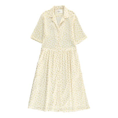 Leon & Harper Roland Polka Dot Button Up Midi Dress-listing