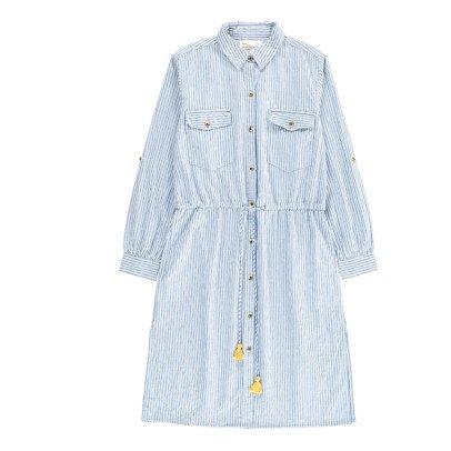 Leon & Harper Rosanna Checked Midi Shirt Dress-listing
