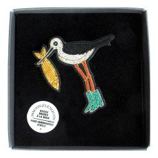 Macon & Lesquoy Bird with Fish Brooch-listing