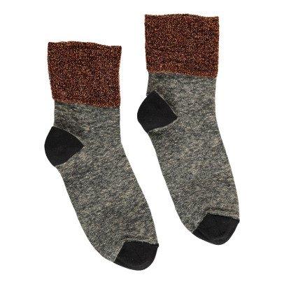 Polder Girl Lurex Stitched Linen Socks-listing