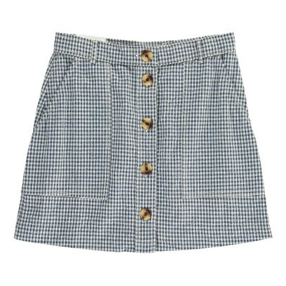Leon & Harper Juliane Checked Button Up Skirt-listing