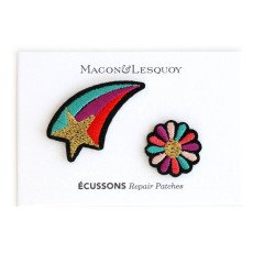 Macon & Lesquoy Shooting Star and Flower Badge Set-listing