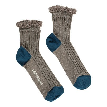 Leon & Harper Lion Lurex Socks-listing