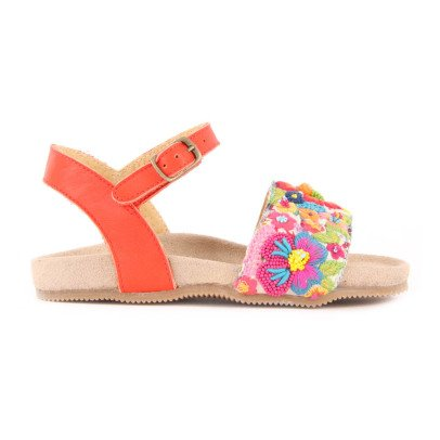 Pèpè Embroidered Flower Sandals-listing