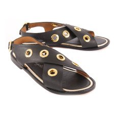 Petite Mendigote Cypress Leather Sandals-listing