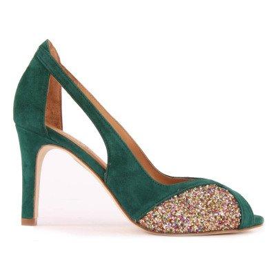 Emma Go Lulu Glitter Suede Open Toe Shoes-listing
