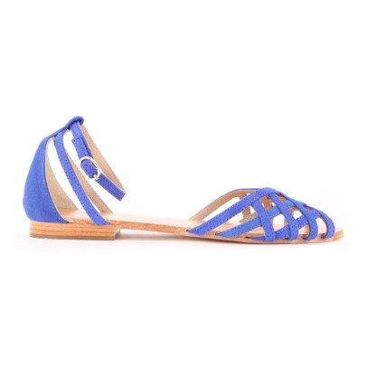 Petite Mendigote Chicory Suede Sandals-listing