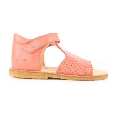 Angulus Velcro Perforated Leather Sandals-listing