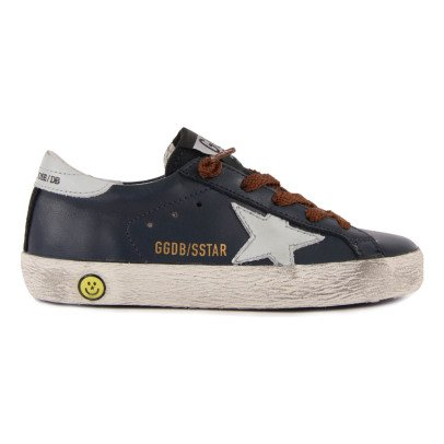Golden Goose Superstar Leather Lace-Up Trainers-listing