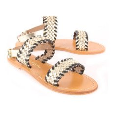 Petite Mendigote Woven Nappa Leather Sandals-listing