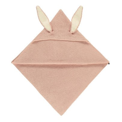 Oeuf NYC Rabbit Knit Hooded Blanket-listing