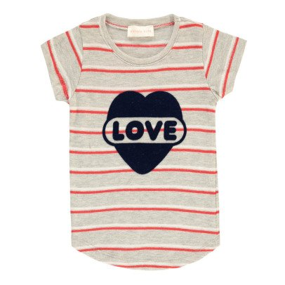 Simple Kids Love Striped T-Shirt-product