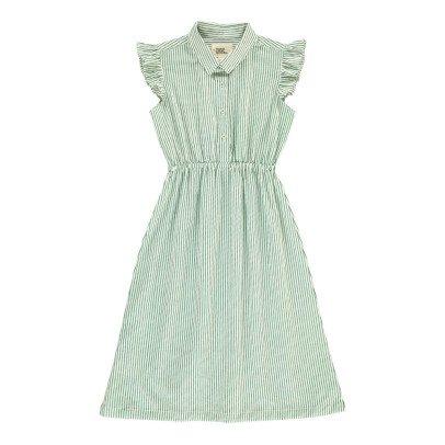 Le Petit Lucas du Tertre Madonna Striped Shirt Dress-listing