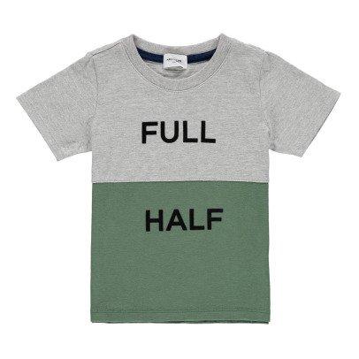 "ARCH & LINE ""Full Half"" Two-Tone T-shirt-listing"