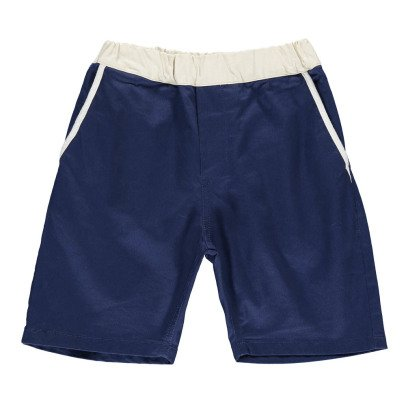 ARCH & LINE Two-Tone Bermuda Shorts-listing