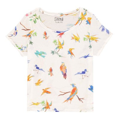 G.KERO Bird Allover T-Shirt-listing