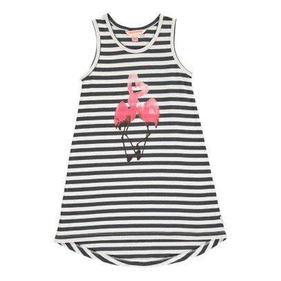 Munsterkids Gestreiftes Kleid Flamingo Flimson -listing