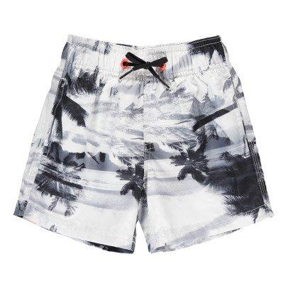 Sundek Short de Bain Palmiers Bande Tricolore-listing