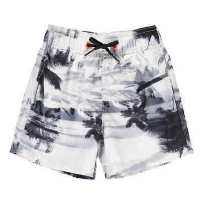 Sundek Three Band Palm Tree Swimshorts-listing