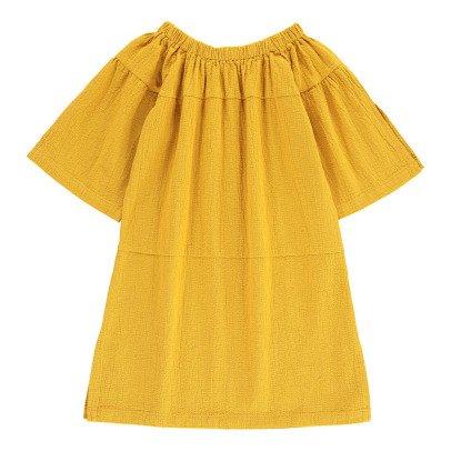 Tambere Vestido Texturizado Cuello Elástico-listing