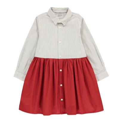 ARCH & LINE Two-Tone Shirt Dress-listing