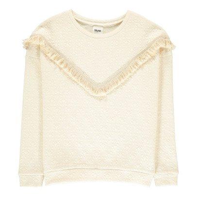 Blune Belle Etoile Fringe Textured Sweatshirt-listing