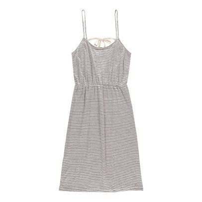 Des petits hauts Jasmine Striped Linen and Cotton Jersey Dress-listing